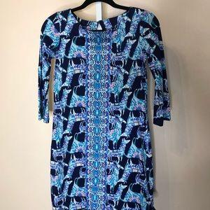 Lilly Pulitzer Prima Cotton 3/4 Sleeve Dress (XS)